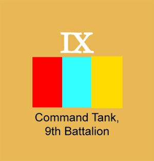 Battalion command tank Tactical Markings