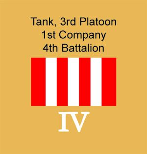 Tactical Markings, Battalion number in Roman Numerals