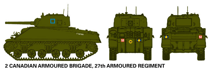Canadian 27th Armoured Regiment Sherman III