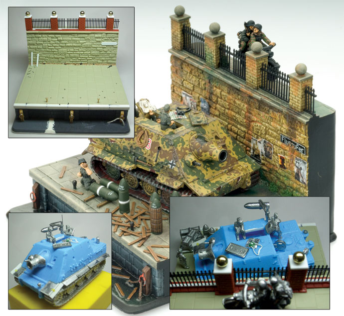 Sturmtiger diorama with elements of its construction