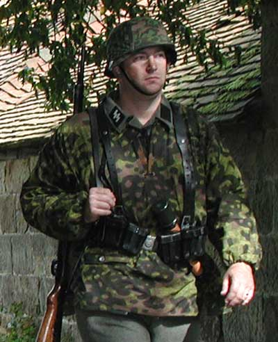An example of Waffen-SS camouflage uniform