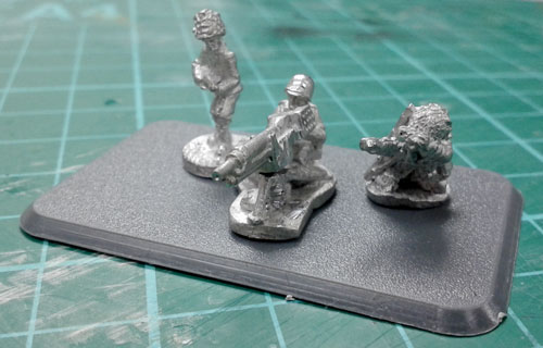T-32 Mountain Infantry Gun team ready for painting