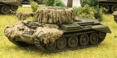 Completed Cromwell with Hessian camouflage