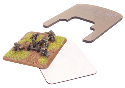 Basing tool, large base magnet and a Flames Of War artillery base