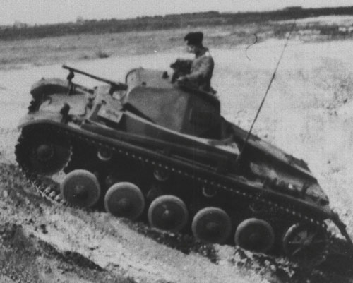 An example of a Panzer II with camouflage