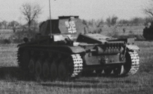 Tactical numbers on a Panzer II