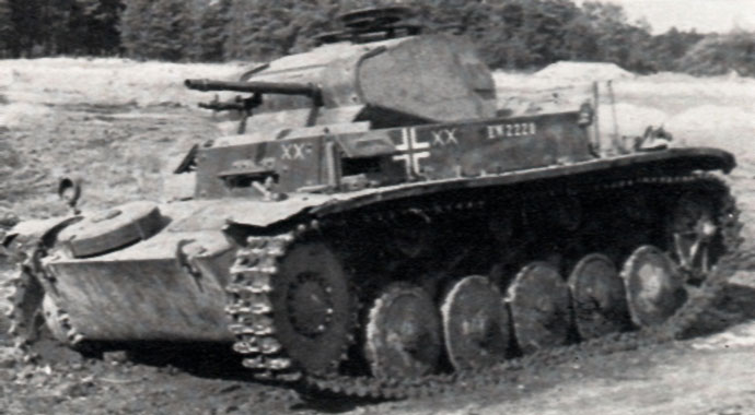 Various marking are displayed on this Panzer II