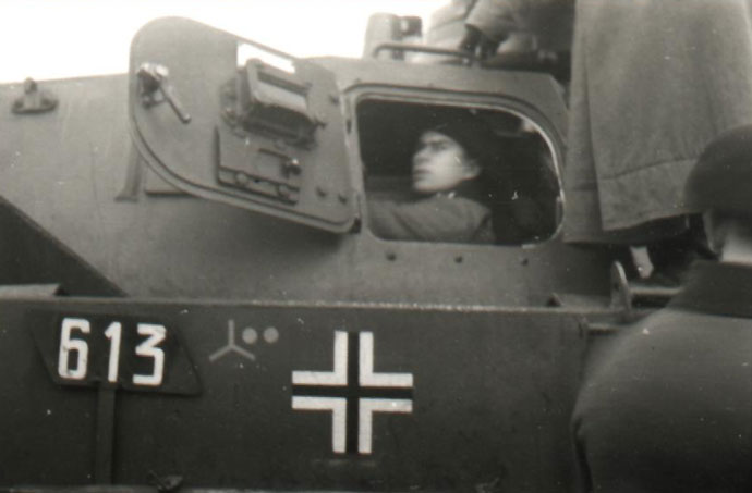 A example of marking on a Panzer IV of the 6. Panzer Division