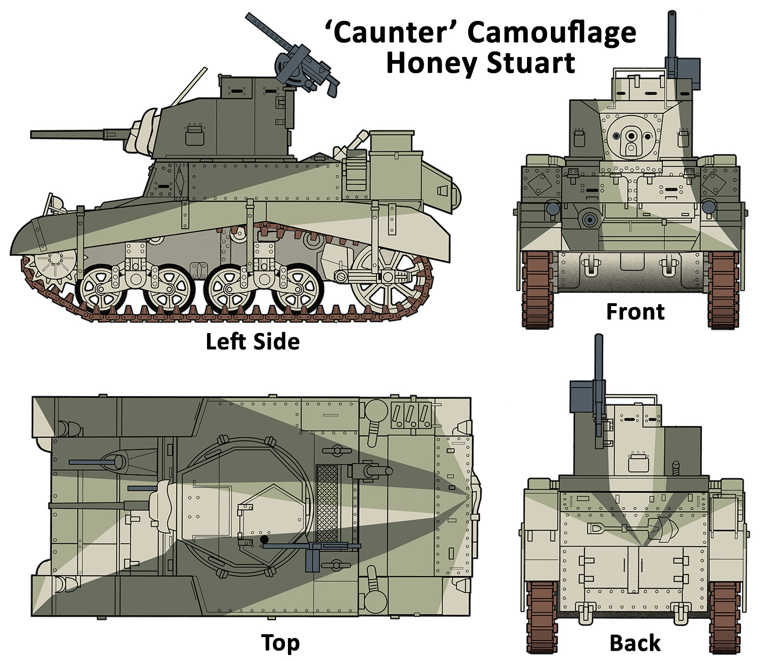 'Caunter' Camouflage Honey Stuart