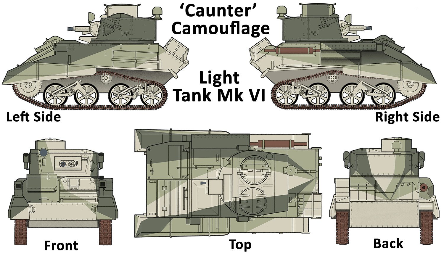 'Caunter' Camouflage Light Tank Mk VI