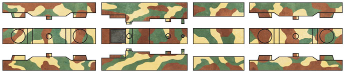 The camouflage diagram