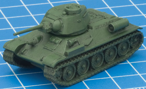Green T-34 ready for masking/chipping