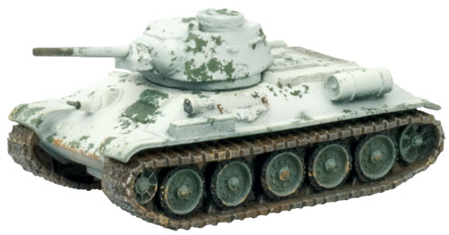 Soviet T-34 weathered using salt masking.