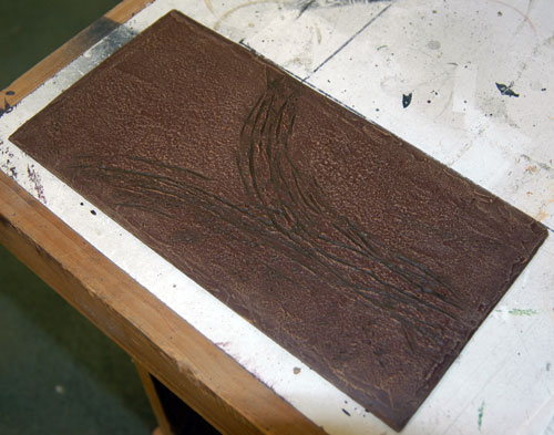 An example of the depth provided by the applying a darker brown