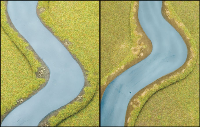 One Colour River vs. A More Realistic Finish