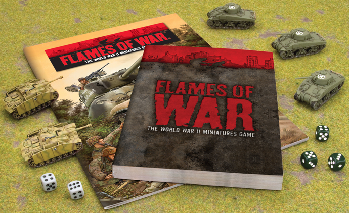 The Contents of the Achtung! Flames Of War Starter Set