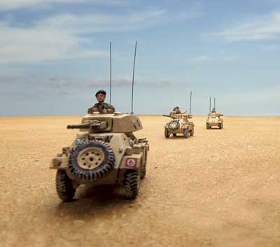 British Armoured Cars in the Desert