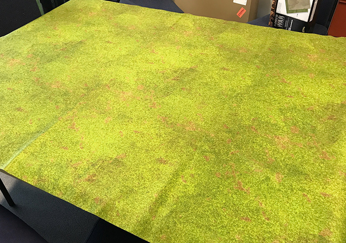 Gaming mat - after a smoothing out the creases