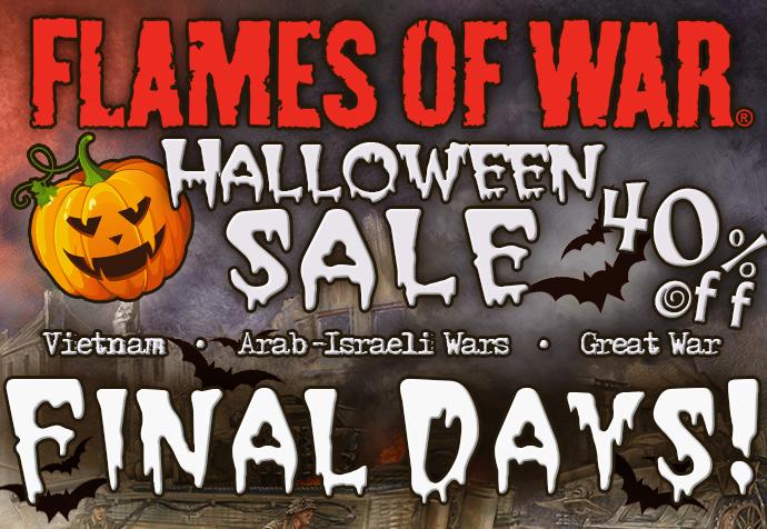 Flames Of War Halloween Sale