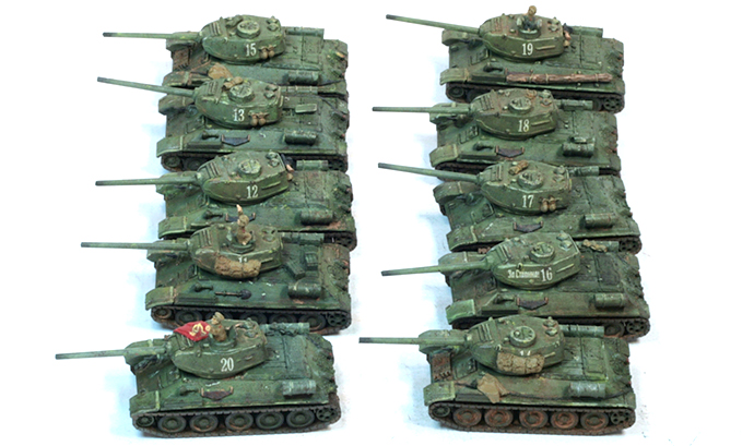 Soviet Tank Company painted by Steve McCuen