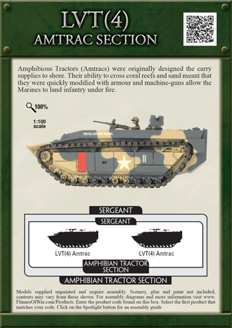 lvt(4) amtrac section (ubx46) flames of war gung-ho bnib ... wiring diagram 3 4 hp electric motor diagram lvt 4 #15