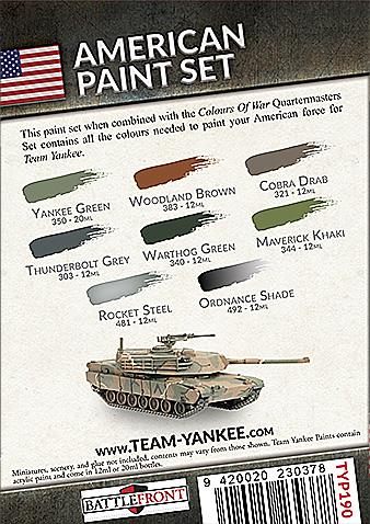 Team Yankee American Paint Set (TYP190)