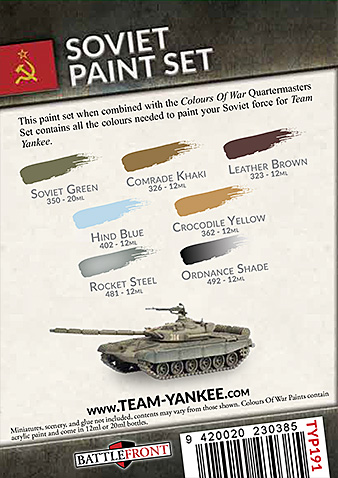 Team Yankee Soviet Paint Set (TYP191)