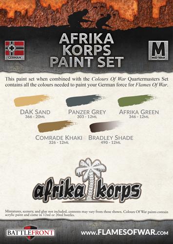 Afrika Korps Paint Set (CWP112)