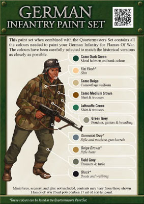 German Infantry Paint Set (GPS01)