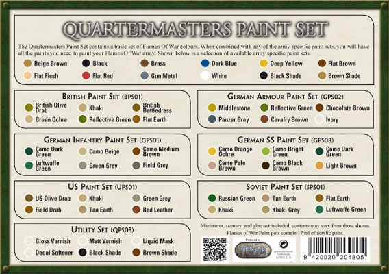 Quartermasters Paint Set QPS01