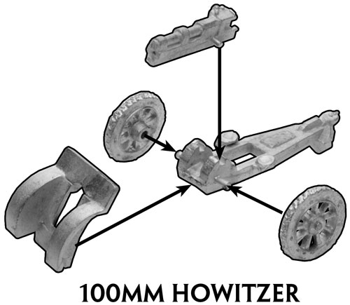 Assembly instruction for the 100mm Howitzer