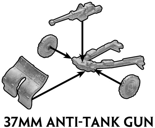 Assembly Instructions for the 37mm gun