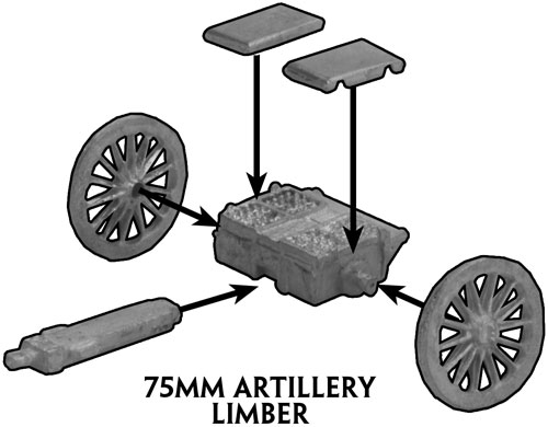 Assembly instruction for the 75mm gun Limber