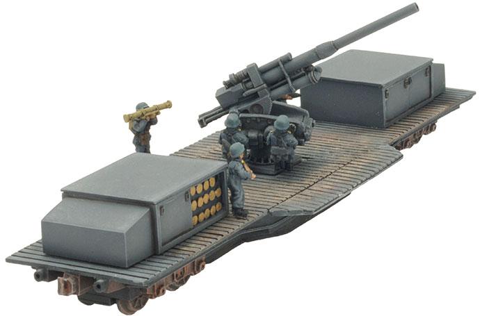 10.5cm FlaK39 Railway Car (GBX86)