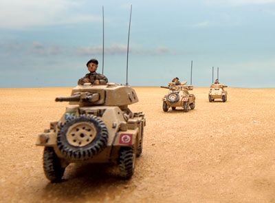 British armoured cars in North Africa