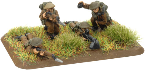 An example of a 3 Riflemen and prone Bren gunner stand