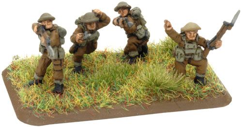 An example of a 3 Riflemen and 1 NCO stand