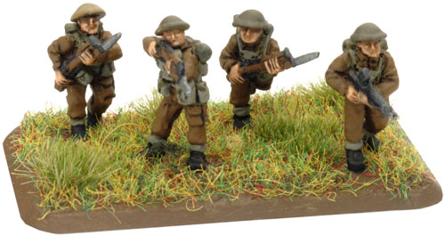 An example of a 3 Riflemen and standing Bren Gunner stand