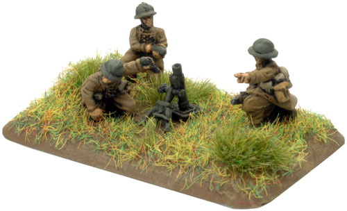 An example of a 60mm mortar team