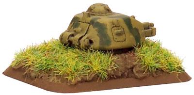 R-35 tank turret bunker