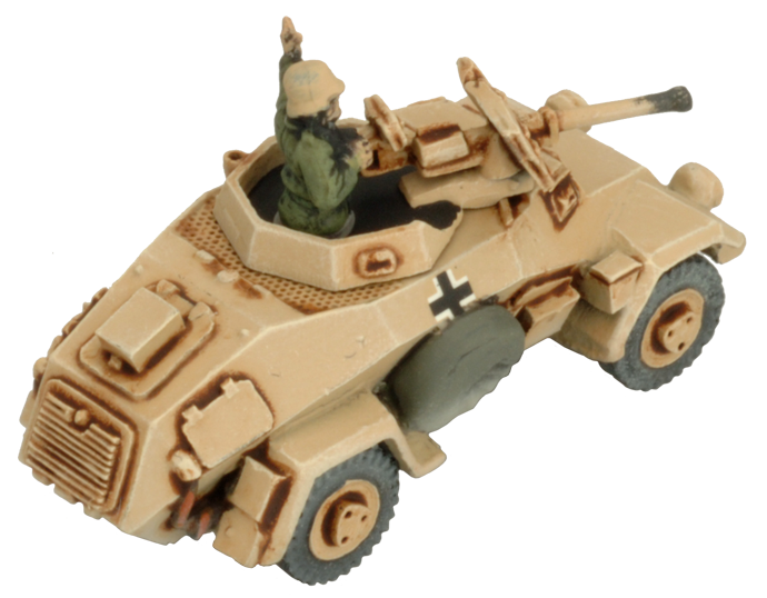 Sd Kfz 221/222 Light Scout Troop (GBX92)