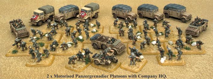 Panzergrenadierkompanie core platoons