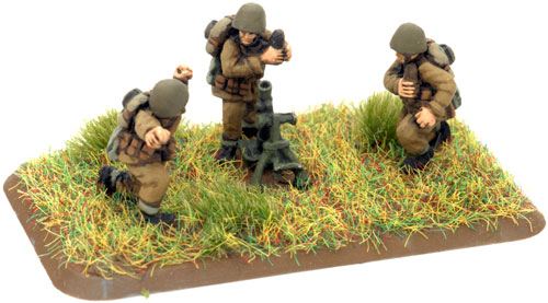 An example of a 81mm mortar team