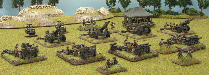 American artillery tries to soften up the German positions.