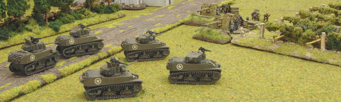 The Stuart's dash out only to face the guns of the waiting Germans.