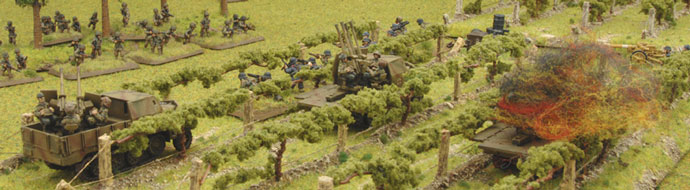 The Assault platoon move up to the tree line under fire from the German positions.