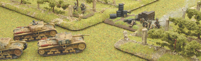 The Semovente platoon secures the objective.