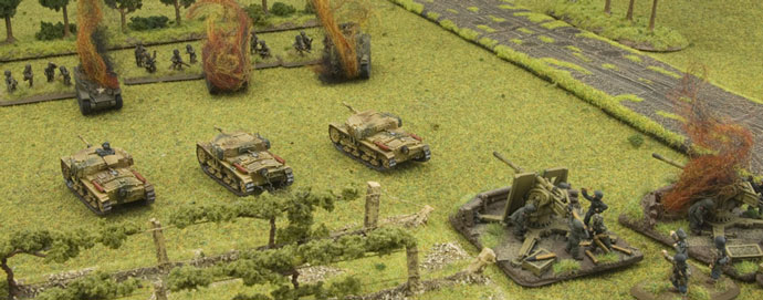 The last '88' and Semovente platoon holds off the I&R platoon