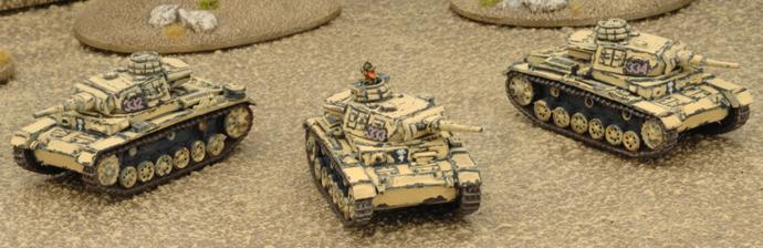 Panzer III Platoon (3 Panzer III F (late) or G)