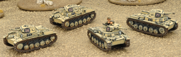Panzer II Platoon (4 Panzer II C)